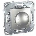 Stmívač otočný 40-1000W, vč.montážního rámečku, alu MGU5.512.30 UNICA Schneider Electric