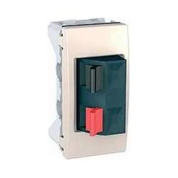 Svorky pro připojení reproduktorů, 1 modul, marfil MGU3.487.25 UNICA Schneider Electric