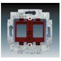 Třmen se soklem pro upevnění dvou komunikačních zásuvek typu Modular-Jack (keystone). 1753-0-8055 ABB