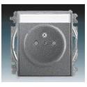 Zásuvka jednonás., chráněná, s clon., s bezšr. sv., s popis. polem ocelová ABB Time 5519E-A02352 36