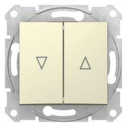 Tlačítko dvojité ovládače žaluzií, ř. 1/0+1/0, el. blokování, biege SDN1300147 SEDNA Schneider Electric