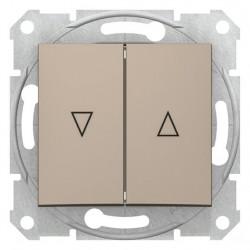 Tlačítko dvojité ovládače žaluzií, ř. 1/0+1/0, el. blokování, titan SDN1300168 SEDNA Schneider Electric