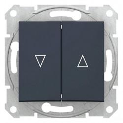 Tlačítko dvojité ovládače žaluzií, ř. 1/0+1/0, el. blokování, graphite SDN1300170 SEDNA Schneider Electric