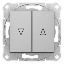 Spínač jednopólový ovládače žaluzií, ř. 1+1, mech. blokování, alu SDN1300360 SEDNA Schneider Electric