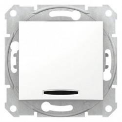 Spínač jednopólový s orientační kontrolkou, ř. 1So, polar SDN1400121 SEDNA Schneider Electric