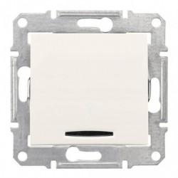 Spínač jednopólový s orientační kontrolkou, ř. 1So, cream SDN1400123 SEDNA Schneider Electric