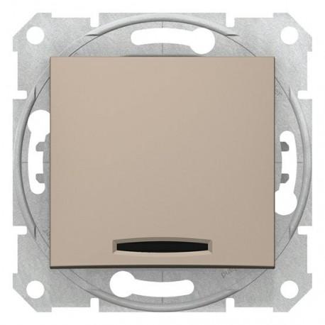 Přepínač střídavý s orientační kontrolkou, ř. 6So, titan SDN1500168 SEDNA Schneider Electric