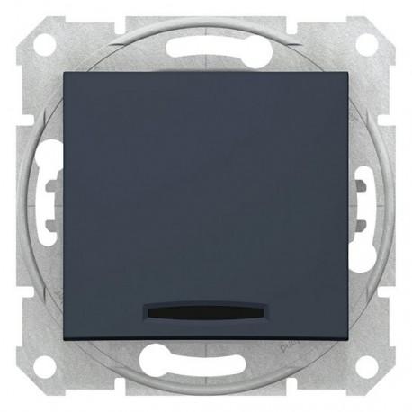 Přepínač křížový s orientační kontrolkou, ř. 7So, graphite SDN0501170 SEDNA Schneider Electric