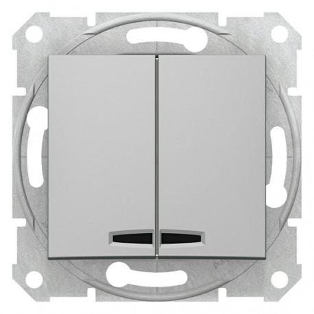 Přepínač sériový s orientační kontrolkou, ř. 5So, alu SDN0300360 SEDNA Schneider Electric