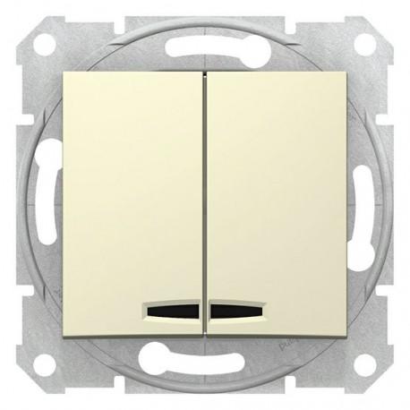 Přepínač sériový s orientační kontrolkou, ř. 5So, beige SDN0300347 SEDNA Schneider Electric