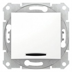 Spínač jednopólový se signalizační kontrolkou, ř. 1Ss, polar SDN0400321 SEDNA Schneider Electric