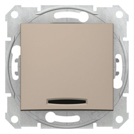 Spínač jednopólový se signalizační kontrolkou, ř. 1Ss, titan SDN0400368 SEDNA Schneider Electric