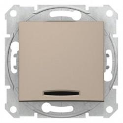 Spínač dvojpólový se signalizační kontrolkou, ř. 2Ss, titan SDN0201168 SEDNA Schneider Electric