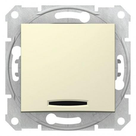 Spínač dvojpólový se signalizační kontrolkou, ř. 2Ss, beige SDN0201147 SEDNA Schneider Electric