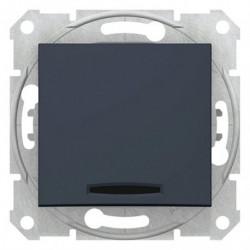 Spínač dvojpólový se signalizační kontrolkou, ř. 2Ss, graphite SDN0201170 SEDNA Schneider Electric