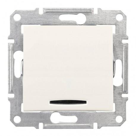 Ovládač tlačítkový s orientační kontrolkou, ř. 1/0So, cream SDN1600123 SEDNA Schneider Electric