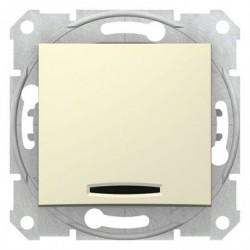 Ovládač tlačítkový s orientační kontrolkou, ř. 1/0So, beige SDN1600147 SEDNA Schneider Electric