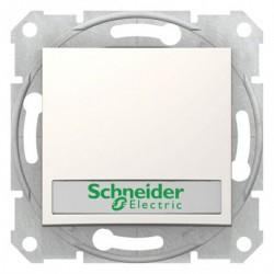 Ovládač tlačítkový s orientační kontrolkou s držákem štítku, ř. 1/0So, cream SDN1600323 SEDNA Schneider Electric
