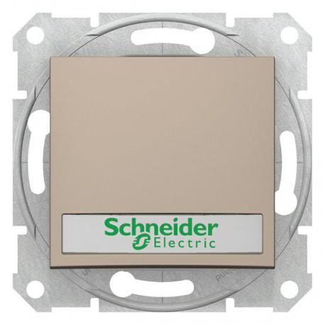 Ovládač tlačítkový s orientační kontrolkou s držákem štítku, ř. 1/0So, titan SDN1600368 SEDNA Schneider Electric