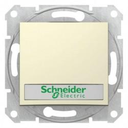 Ovládač tlačítkový s orientační kontrolkou s držákem štítku, ř. 1/0So, beige SDN1600347 SEDNA Schneider Electric