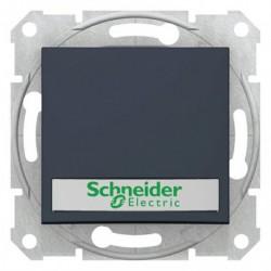 Ovládač tlačítkový s orientační kontrolkou s držákem štítku, ř. 1/0So, graphite SDN1600370 SEDNA Schneider Electric