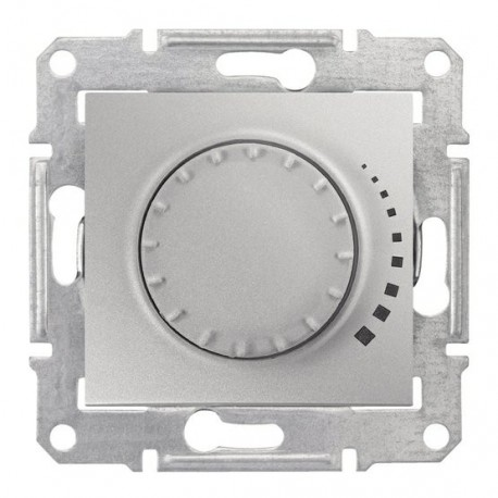 Stmívač otočný RC 25-325W/VA, ř. 1, alu SDN2200660 SEDNA Schneider Electric