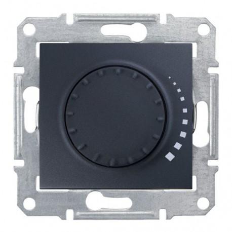 Stmívač otočný RL 60-325W/VA, ř. 1, graphite SDN2200470 SEDNA Schneider Electric