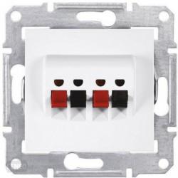 Zásuvka reproduktorová dvojitá, polar SDN5400121 SEDNA Schneider Electric