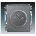 Zásuvka jednonásobná, chráněná, s clonkami, s bezšroub. svorkami antracitová ABB Time 5519E-A02357 36