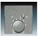 Kryt termostatu prostorového, s otočným ovládáním metalická šedá ABB 1710-0-3848, 2CKA001710A3848