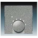 Kryt termostatu pro topení/ chlazení metalická šedá ABB 1710-0-4012, 2CKA001710A4012