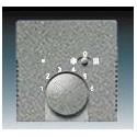 Kryt termostatu pro topení/ chlazení, s posuvným přepínačem metalická šedá ABB 1710-0-4044, 2CKA001710A4044