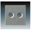 Kryt zásuvky televizní, rozhlasové (a satelitní) metalická šedá ABB 1724-0-4291, 2CKA001724A4291