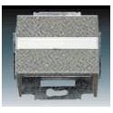 Kryt zásuvky komunikační, s popisovým polem (pro nosnou masku) metalická šedá ABB 1724-0-4292, 2CKA001724A4292