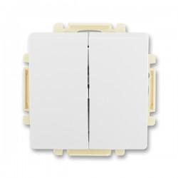 Vypínač, přepínač sériový s krytem, č.5 jasně bílá ABB Swing 3557G-A05340 B1