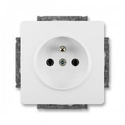 Zásuvka jednonásobná s ochranným kolíkem jasně bílá ABB Swing 5518G-A02349 B1