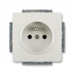 Zásuvka jednonásobná s ochranným kolíkem světle šedá ABB Swing 5518G-A02349 S1