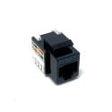 Zásuvka datová černá, RJ45 CAT.5E UTP nestíněný, KSL5EUTPB