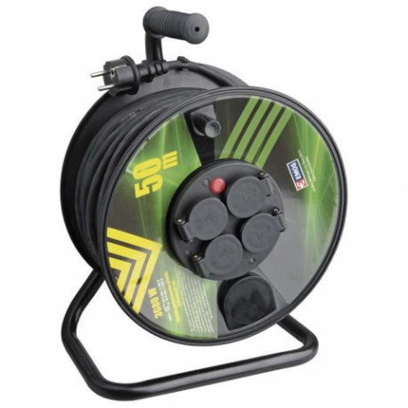 Prodlužovací kabel 50m na bubnu 4 zásuvky H05RR-F 3x1,5mm GUMA P084501 Emos