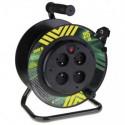 Prodlužovací kabel 25m na bubnu 4 zásuvky H05VV-F 3x1,5mm PVC pevný střed P19425P Emos