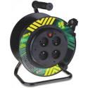 Prodlužovací kabel 50m na bubnu 4 zásuvky H05VV-F 3x1,5mm PVC pevný střed P19450P Emos