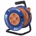 Prodlužovací kabel 25m na bubnu 4 zásuvky H05VV-F 3x1,5mm PVC P19425 Emos