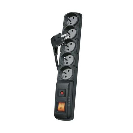 Prodlužovací kabel 3m 5 zásuvek s vypínačem a přepěťovou ochrannou H05VV-F 3x1mm PVC P53872 Emos