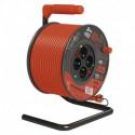 Prodlužovací kabel 25m na bubnu 4 zásuvky H05VV-F 3X1,5 PVC P194253 Emos