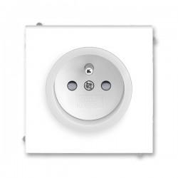 Zásuvka jednonásobná, s ochr. kolíkem, s clonkami, s bezšroub. sv. bílá/ledová bílá 5519M-A02357 01 ABB Neo®