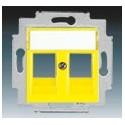 Kryt zásuvky komunikační žlutá ABB Levit 5014H-A01018 64