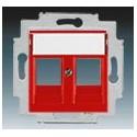 Kryt zásuvky komunikační červená ABB Levit 5014H-A01018 65