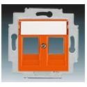 Kryt zásuvky komunikační oranžová ABB Levit 5014H-A01018 66