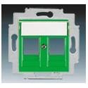 Kryt zásuvky komunikační zelená ABB Levit 5014H-A01018 67