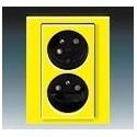 Zás. dvojnásobná s ochr. kolíky, s clonkami, s natoč. dutinou žlutá/kouřová černá ABB Levit 5513H-C02357 64